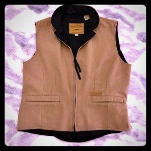 PANHANDLE SLIM Powder River Wool Beige Vest Size M